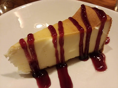 Slice Of Raspberry Cheesecake. (dccradio) Tags: lumberton nc northcarolina robesoncounty indoor indoors inside food eat meal supper dinner lunch snack outback outbacksteakhouse restaurant december tuesday tuesdayevening evening goodevening samsung galaxy smj727v j7v cellphone cellphonepicture raspberry cheesecake dessert sweet treat drizzled raspberrydrizzle