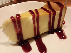 Dessert. (dccradio) Tags: lumberton nc northcarolina robesoncounty indoor indoors inside food eat meal supper dinner lunch snack outback outbacksteakhouse restaurant december tuesday tuesdayevening evening goodevening samsung galaxy smj727v j7v cellphone cellphonepicture raspberry cheesecake dessert sweet treat drizzled raspberrydrizzle