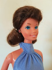 70's Superstar Barbie brunette wig makeover (kowak88) Tags: 70s superstar barbie brunette wig fashionfavorites 3786 1981 red jewels mattel makeover