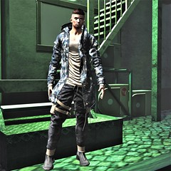 THE GREEN LIGHT (Geoffrey Firehawk MR V♛ Belgium 2014) Tags: sl secondlife event tmd themensdpt hair modulus jacket ascend camo pants aitui shoes boots footwear rebellion mesh man guy homme hombre style styling backdrop taikou attitude model modeling mode mannequin malefashion menswear male fashion fashionpixel casual