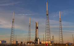 CRS-19 by SpaceX at sunrise (Michael Seeley) Tags: ccafs crs19 capecanaveralairforcestation elonmusk nasa rocketlaunch falcon9 rocket spacex