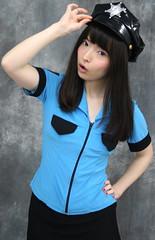 Tip Cap To Cop This Christmas (emotiroi auranaut) Tags: woman uniform police cap