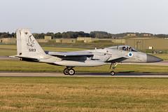 583_McDonnellDouglasF-15CBaz_IsraelIDF_EGXW_Img03 (Tony Osborne - Rotorfocus) Tags: mcdonnelldouglas f15 f15c eagle baz israel israeli air force defence forces idf iaf raf waddington cobra warrior 2019
