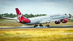Virgin Atlantic | G-VWIN | Airbus A340-642 | BGI (Terris Scott Photography) Tags: aircraft airplane aviation plane spotting nikon d750 f28 travel jet jetliner airbus a340 600 a346 tamron 70200mm di vc usd g2 virgin atlantic