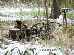 In The Weeds (Picsnapper1212) Tags: weeds snow scene farm farming agriculture cornplanter seed planter antique southwesternohio ohio appalachia rust