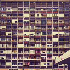 Different lives / Különböző életek (NeSa.) Tags: building aged apartment old architecture block bright city cityscape colorful concept conceptual cool developing district downtown dusk exterior facade flat high highrise home housing life living neighborhood orange poor residential retro scene skyline tall urban yellow debrecen vénkert nesa