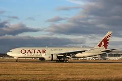 Qatar Airways Cargo Boeing 777-200 A7-BFR 7th December 2019 (3) (asdofdsa) Tags: qatar airways cargo doncasterrobinhoodairport finningley aeroplane aircraft boeing777200 freighter sky runway boeing egcn fny southyorkshire nottinghamshire oldbawtryroad