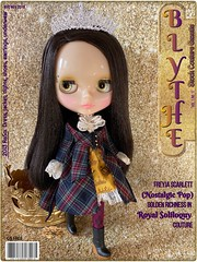 November 2019 BLYTHE Gazette Cover Girl:  Freyja Scarlett (Nostalgic Pop) golden richness in Royal Soliloquy Couture 👑 (AudreyLovesBklyn) Tags: neoblythetakararblstockdoll nostalgicpop translucentskin freyjascarlett longblackhair brunette tattoo steampunk iphonephotography toys hobby toycollection art royalsoliloquystockcouture dress jacket tights shoes
