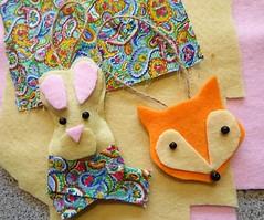 Seasonal Crafts (camerapoetry) Tags: felt feltcraft string fabric bunnyrabbit fox creative whitworthartgallery manchester england uk art arts4goodhealth artclasses seasonalcrafts