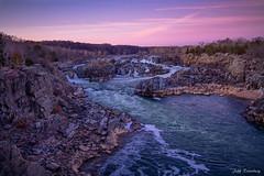 Sunset View (jiroseM43) Tags: greatfallsnationalpark greatfalls olympus potomac potomacriver waterfalls river omdem10markiii em10markiii m43 lumixg14f25