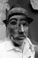 somewhere between two worlds (Super G) Tags: nikon333c incameradoubleexposure bw blackandwhite selfportrait sculpture museum themet newyorkcity stone