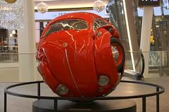 Beetle Shere (Elbmaedchen) Tags: käferkugel ichwannoor künstler amsterdam rot käfer vw geformt lustig fun kalverpassage niederlande netherlands volkswagen