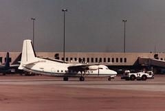 F-GEXZ (IndiaEcho) Tags: aircraft aeroplane airport aviation airfield air service nantes fokker fgexz birmingham friendship f27 bhx egbb