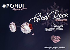 #POHUI - GlodiRose glasses (unrigged) (pohui666) Tags: home decor pohui second life furniture sale christmas cute red green stars lights store mesh shop white work design winter art moon sun decoration unrigged glasses rose chain gold jem