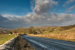 Eggleston from Folly Top under a big sky after Storm Atiyah 8 Dec 2019 (Richard Laidler) Tags: bigsky bluesky blustery bright brightinterval clouds cold darkclouds darksky dramaticlight eggleston follytop northeastengland northpennines stormysky strongsunshine sunny sunshine teesdale teesdalelandscape windy winter wintrysunshine