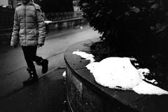 Snow on the wall (Leica M6) (stefankamert) Tags: 022019 film analog grain wall snow winter tones mood people leica m6 leicam6 kodak trix noir noiretblanc blackandwhite blackwhite stefankamert bw voigtländer voigtlander ultron wideangle