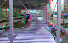 Station Rotterdam Alexander (8-12-2019) 3D (wim hoppenbrouwers) Tags: anaglyph stereo redcyan station rotterdam alexander 8122019 3d stationrotterdamalexander steel staalconstructie