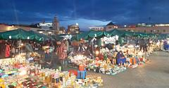 place jemma el fna (smokykater - 800k+ views) Tags: jemmaelfna marrakech maroc place medina shopping food restaurant bargain snake barber storyteller marokko marrakesch foodstall color colorful outside night