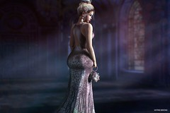 Behind your walls.. (Sistine Kristan (Sisely) - Toolbox Chicks) Tags: blog blogger narcisse gown sl secondlife tannenbaum event winter silk