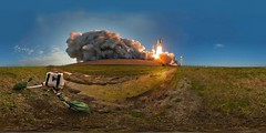 STS-133 liftoff (DMolybdenum) Tags: space shuttle 360 panorama nasa kennedy center sts133 rocket launch rare liftoff