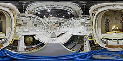 Shuttle Payload Bay in OPF (DMolybdenum) Tags: orbiter processing facility nasa payload bay space shuttle 360 panorama kennedy center