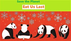 Climate Change Pandas - Eat Us Last (ramalama_22) Tags: climate change panda food hunger sludge worm roach chain panic disaster catastrophe holocaust environment dilemma habitat loss zoo cute save planet carbon dioxide extremism meat flesh christmas snowflake aoc new green deal species extermination extinction chubby fuzzy endangered wildlife animal