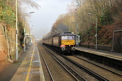 BLS 1Z29 with BR  Brush Type 4 No.47205 hauling 'The Bootle Brush' Railtour through Aughton Park station on route from Ormskirk to Kirkby then onto Southport on 8th December 2019 © (steamdriver12) Tags: branch line society bls 1z30 br brush type 4 no47245 47826 hauling the bootle railtour 8th december 2019 west coast railway lancashire england heritage diesel electric first generation british railways aughton park station ormskirk kirkby