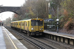 Merseyrail EMU 507014 at Aughton Park Station with 2G45 Liverpool Central to Ormskirk service 8th December 2019 © (steamdriver12) Tags: merseyrail emu 507014 station aughton park 2g45 liverpool central ormskirk service 8th december 2019