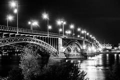 Mainz-20138 (kurzkarl74) Tags: mainz bridge night lights water olympusomdem10m2 olympus12422 8pro