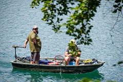 sBs_1907(vac2)_0061-2 (schoolartBYschoolboy) Tags: auvergne puydedome lake forest vulcan boat rowboat fishing man beard
