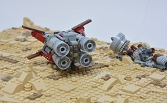 Quadjumper Star Wars 7 (Pierre MiniBricks) Tags: pierre minibricks lego star wars mini moc jakku ukar plutt force awakens quadjumper remorqueur space tug