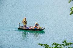 sBs_1907(vac2)_0058-2 (schoolartBYschoolboy) Tags: auvergne puydedome lake forest vulcan boat rowboat fishing man beard