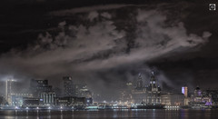 All that for one guy! (alundisleyimages@gmail.com) Tags: liverpool waterfront smoke panorama architecture city cityscape maritime night longexposure rivermersey merseyside event ship stars weather reflections clocks