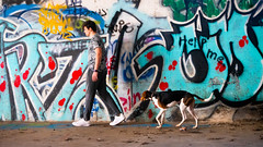 DSC03056 (Matt.Preble) Tags: dog person sony graffiti