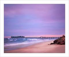 Purple Sky (Daniela 59) Tags: sunset purple sky pastelcolours beach ocean jetty swakopmund namibia sliderssunday hss topazstudio2