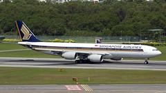 9VSGA_20100328 (Anhedral) Tags: airliner jetliner airplane airport 9vsga airbus a340 a340541 sia singaporeairlines singaporeairport changi