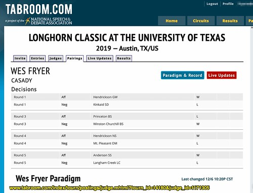 Wes Fryer's TabRoom.com Profile for UT Austin by Wesley Fryer, on Flickr