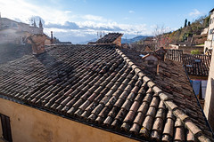 Roof (alfsan) Tags: pentaxart roof tegole shingles tiles towers clouds italy marche sky comignoli chimneys