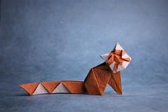 Red panda - Oriol Esteve (pierreyvesgallard) Tags: origami redpanda red panda oriol esteve paper papercraft animal cute geometric