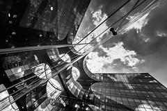 Batman (diagonal) (Blende1.8) Tags: batman batmanbuidling officebuilding london england uk unitedkingdom cityscape city urban reflection spiegelung sky himmel monochrom monochrome architecture modernarchitecture blackandwhite wide wideangle sigma 1224mm sigma1224mmhsmii