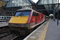 LNER 91121 @ LGX 7/12/19 (Lewis43239) Tags: class 91 electric electra pride lner kings cross london
