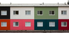 Colourful (felix200SX) Tags: house colours colors wall windows red white black orange green pink blue outside canon 70d sigma70200mmf28dgoshsm