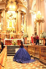 Quinceañera (Prayitno / Thank you for (12 millions +) view) Tags: quinceanera cathedral catedral puebla mx mexico misa mass beautiful roman catholic church catolica katholik gereja iglesia igreja purple blue dress