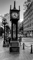 Steam Clock (colin ryan photography) Tags: canada canadian steam steamclock clock blackandwhite black white hdr vancouver olympus olympusem1mk11 olympus12100pro