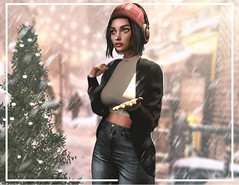 first snow (UGLLYDUCKLING Resident) Tags: secondlife sl avatar avi girl brunette virtual world ootd fashion style scenery snow winter blogger ugllyduckling maitreya genus gaia scandalize osmia lyrium levelevent collabor88 uberevent
