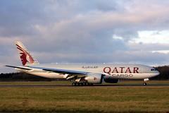 Qatar Airways Cargo Boeing 777-200 A7-BFR 7th December 2019 (4) (asdofdsa) Tags: qatar airways cargo doncasterrobinhoodairport finningley aeroplane aircraft boeing777200 freighter sky runway boeing egcn fny southyorkshire nottinghamshire oldbawtryroad