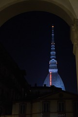DSC_4837_5759 - Torino . Mole Antonelliana. (angelo appoloni) Tags: piemonte torino notturno mole antonelliana androne palazzo patrizio lacittàmetropolitanaditorinovistadavoi