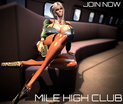 mile high club (◣◥ SID⚥STYLE ◣◥) Tags: mile high club sid alex shelman style avatar second life fly plane private airport frequent traveler airline bimbofication throphy wife heels
