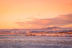 Iceland (Woyciech Zet) Tags: landscape mountains iceland view sunset nature snow winter