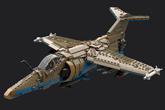 S.kr-Kitri KA-200WL 'Sakmat' (Cagerrin) Tags: lego system aircraft airplane plane fighter interceptor multirole jet supersonic mirage miragef1 ldd legodigitaldesigner studio 3d model lxf io